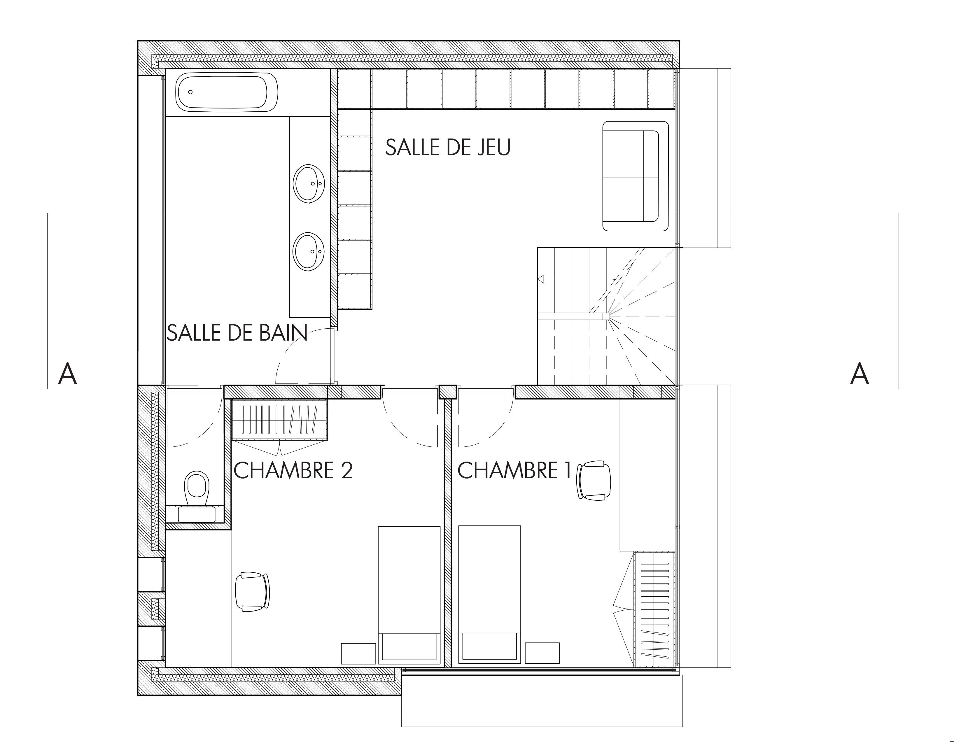 Maison rue des peupliers pauline de laitre for Plan de maison avec autocad